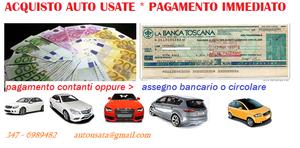 Acquisto auto usate,veicoli usati in genere, pagamento