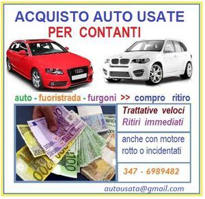 Acquisto auto usate,veicoli usati in genere,anche